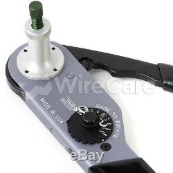 Hdt-48-00 Hand Crimp Tool, 8 Indent, Size 12awg 20awg Comes With Protectiv
