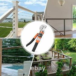Hydraulic Cable Crimper Hand Tool for 1/8, 3/16 Stainless Steel Cable Railing Fi
