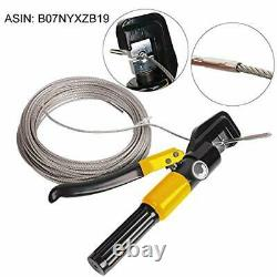 Hydraulic Hand Crimper Wire Cutter Tool Stainless Steel Cable Railing Fitting