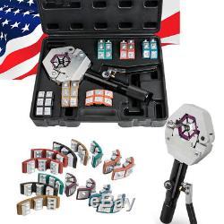 Hydraulic Hose Crimper Crimping Tool Kit Air Conditioner Car Repair Hand Tool CE