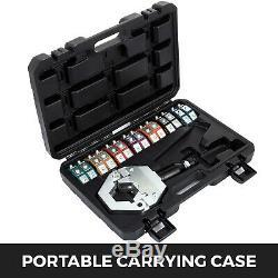 Hydraulic Hose Crimper Tool Kit 7 Dies Operate Mounting Hand Tool Handheld