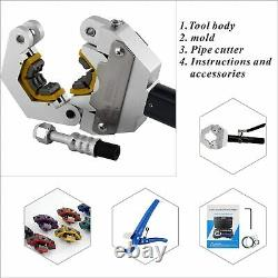 Hydraulic Hose Crimper Tool Manual A/C Hose Crimper Kit Crimping Hand Tool Die
