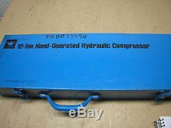 IDEAL 88-836 12 Tons Hydraulic Hand Operated Crimper Crimping Tool FREE SHIPPING