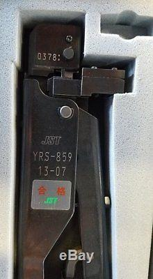 JST YRS-859 Strip Feed Hand Crimping Tool 13-07 Fast Shipping USA Mint Condition