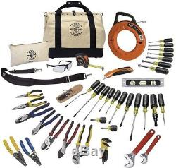 Klein Tools 41 Piece Journeyman Tool Set Mixed Pliers Cutter Crimping Hand Tools
