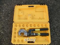 Kompress KHH13C, two speed hand hydraulic crimper, crimping tool + case