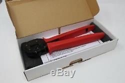 MOLEX 63811-7200 REV A CRIMPING HAND TOOL PLIER with 63811-7275 LOCATOR