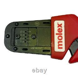 MOLEX 638118200F HAND CRIMP TOOL CRIMPER with638118275 TOOL DIE