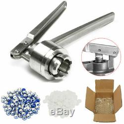 Manual Crimper Hand Seal Ring Machine Tool 20 mm With 100 Vials Stoppers Caps