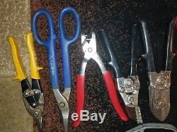 Mixed lot of 19 Malco/Wiss HVAC-Sheet metal hand tools, Crimper, Notcher, Snips