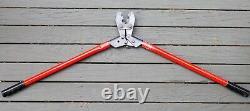 Molex 147508 A / 640013910 Hand Crimp Tool 2-8 AWG 30 Red Handle