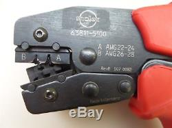 Molex 63811-5100 Hand Crimping Tool with 63811-5175 Locator Assembly