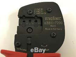 Molex 63811-7200 Flat Blade Hand Crimp Tool For Terminal Awg 16-18