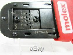 Molex 638118200d Hand Crimp Tool 22-30awg 63811-8200 D