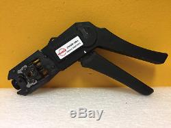 Molex 69008-1104 (95043-5881/5891) RJ-45, hand Crimp Tool + Die Set. Tested