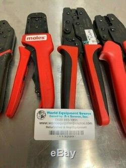 Molex Hand Crimp Tools, Lot of 4