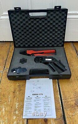 Molex Premium Grade Hand Crimping Tool Kit 69008-1170 Great Condition