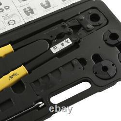 Multi-Head PEX Crimp Hand Tool Kit Lightweight Strong Comfort Grip Handles