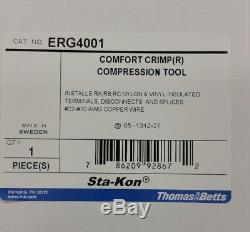 NEW Thomas & Betts ERG4001 Sta-Kon Ergonomic Hand Tool for Crimping RA, RB, RC