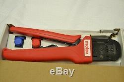 New Molex 2002182200 Crimper Hand Crimp Tool 16AWG Pin & Sockets Mini-Fit Jr
