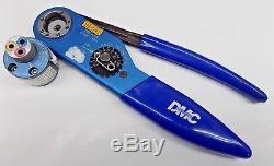 Nice DMC Daniels AF8 Ratchet Hand Crimping Tool TH1A Turret Mil Spec