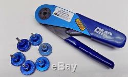 Nice DMC Daniels AFM8 Ratchet Hand Crimping Tool with 6 Positioners Mil Spec