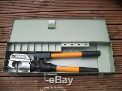 OPT TP-300 hand hydraulic crimper crimping tool & metal case