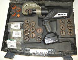 Panduit CT-2931 Black Fin 18V 12-Ton Hand-Crimp Compression Tool + Dies Battery