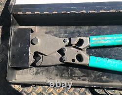 Panduit CT720 CT-720 Manual Hand Crimping Tool with 7 Dies