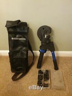 Prysmian Bicon G10TS2 Hand Hydraulic Crimping Tool. Plus dies. BICON G10TS 2