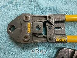 Rems Hand Pliers Eco-Press Ecopress Crimping Tool with 1/2 and 3/4 Jaws