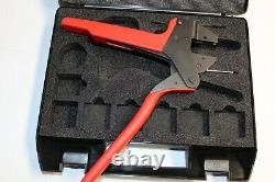 Rennsteig Hand Crimp PLIER Tool WithCase ONLY, NO Dies, RED HANDLES GERMANY