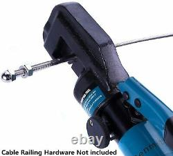 Senmit Hydraulic Cable Crimper Hand Tool for 1/8, 3/16 Stainless Steel Cable