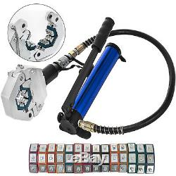 Separable Hydraulic Hose Crimper 7 Dies Hydra Krimp Operate Mounting Hand Tool