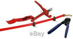 THE PLUMBERS CHOICE PEX Plumbing Kit Crimper Cutter Tool Lock Hook Hand Tool