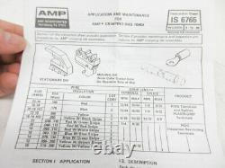 TYCO ELECTRONICS 169400-0 REV B With 404 DIE PIDG HAND CRIMP TOOL TE 169404