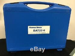 Thomas & Betts Bat 22-6 Hand Crimp Tool With Battery Case and Battery