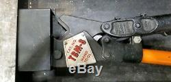 Thomas & Betts Co TB TBM-8 Wire Lug Crimper Hand Tool with 8 Dies in Box