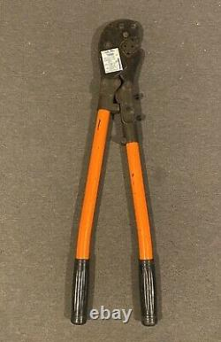 Thomas & Betts Co TBM-8 Wire Lug Crimper Hand Tool With 13461 Die (used) Free Ship