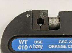 Thomas & Betts Shield-Kon WT410 Hand Crimping Insulated Ratcheting Crimp Tool