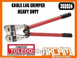 Toledo 302024 Cable Lug Crimper Heavy Duty Hand Crmip Size Adjustment Screw