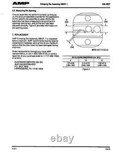 Tyco production hand crimp too1478240-0 Crimp Tool withTyco 58537-1 RF BNC Die Set