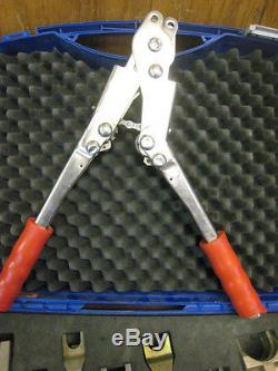 Hose Crimping Tool >> USED VULKAN LOKRING HAND ASSEMBLY CRIMPER TOOL With DIES AND CASE FREE SHIPPING