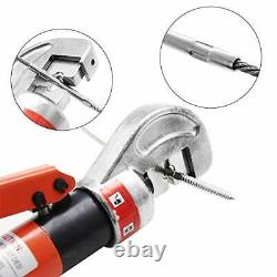 Upgraded 10 Ton Hydraulic Cable Crimper Hand Tool for 1/8, 3/16 Stainless
