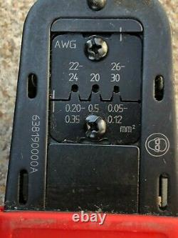 Used Molex 638190000 63819-0000 Micro-Fit 3.0 Crimp Terminal Hand Crimper Tool