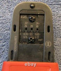 Used Molex 638190000A 63819-0000 Micro-Fit 3.0 Crimp Terminal Hand Crimper Tool