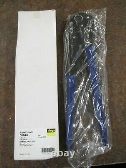 Viega 50040 PureFlow 3/4 PEX Crimp Press Hand Tool Pliers Blue Handle