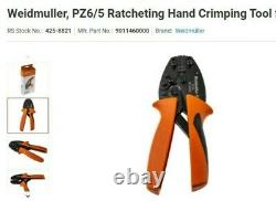 Weidmuller, PZ6/5 Ratcheting Hand Crimping Tool for Bootlace Ferrule